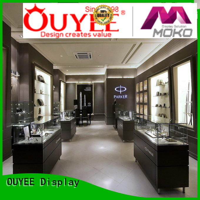 large jewellery shop showcase design latest showcase OUYEE Brand