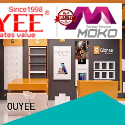 furniture showcase phone OUYEE Brand electronic shop display