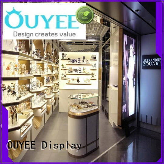 OUYEE top brand perfume display rack bulk production for store
