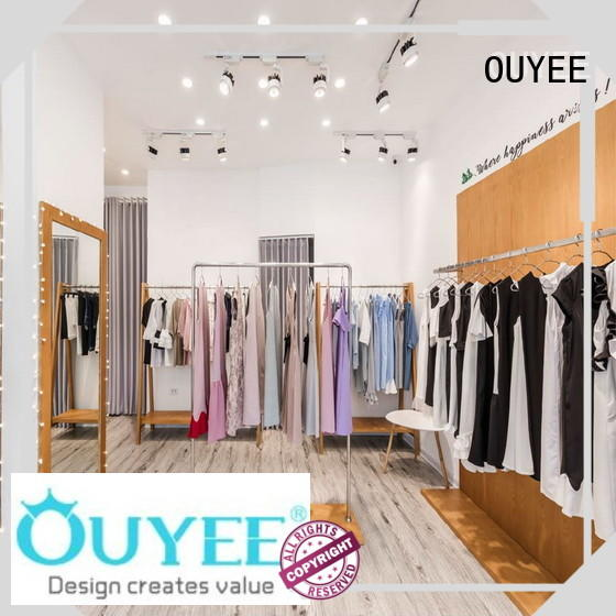 OUYEE Brand interior underwear boutique clothing display racks counter