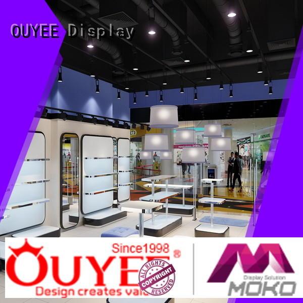 Hot wooden shoe rack designs counter OUYEE Brand