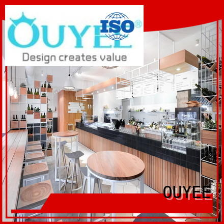 OUYEE modern small cafe design ideas bulk production for furniture