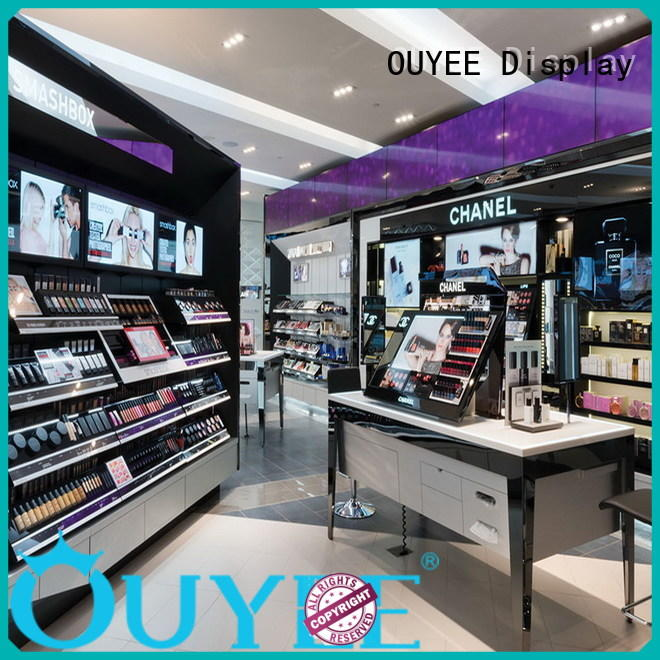 stand shop showroom retail OUYEE Brand cosmetic shop supplier