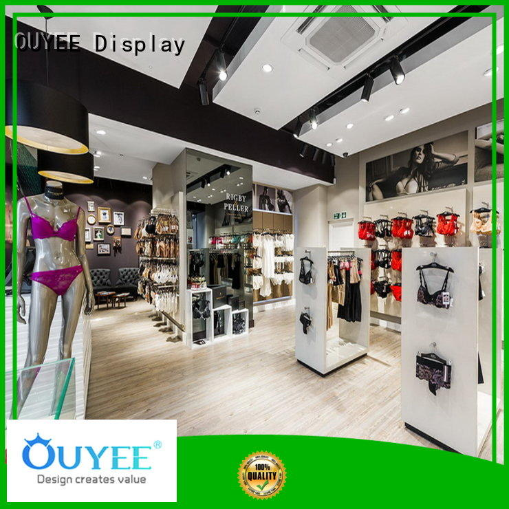 top brand clothing store equipment cheapest price underwear display OUYEE