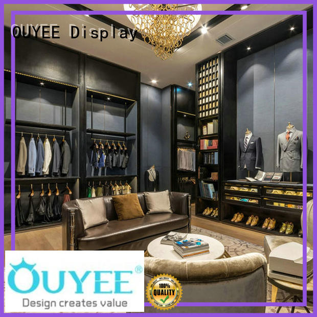 shop highend name clothing shelves clothes OUYEE