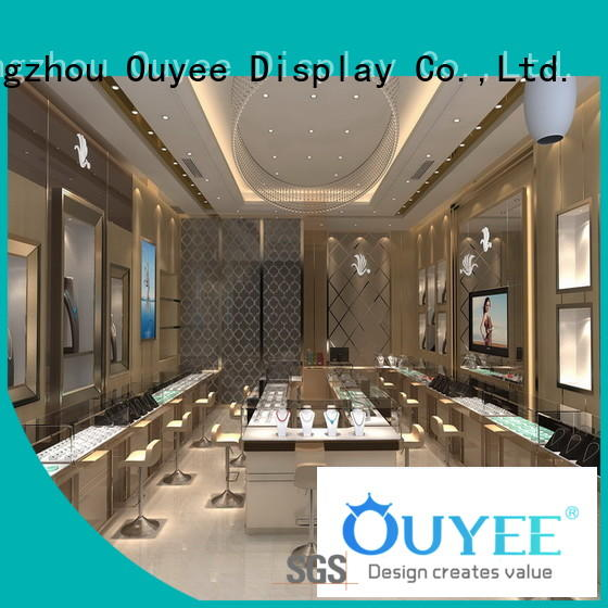 Wholesale cases counters jewellery shop design OUYEE Brand