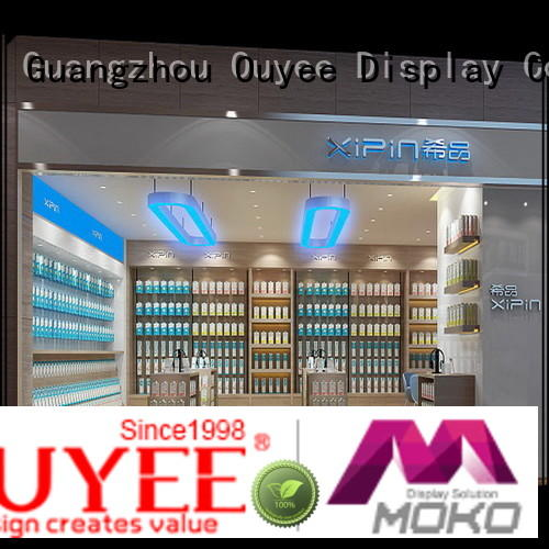 OUYEE top brand cell phone display table plywood for decoration