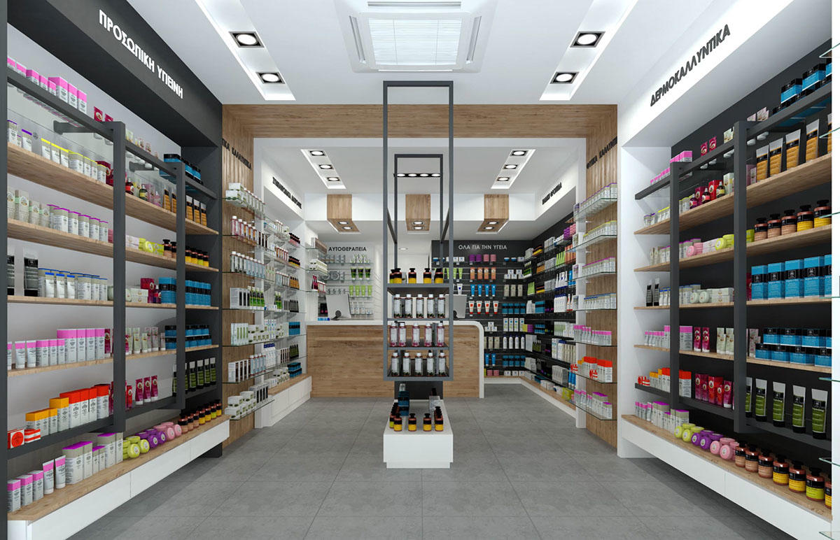 newest pharmacy interior fast installation for display OUYEE-1