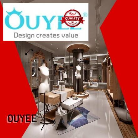highend shop cloth retail OUYEE Brand clothing shelves supplier