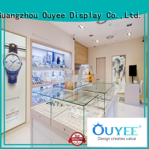OUYEE commercial glass display case with lights factory for shop
