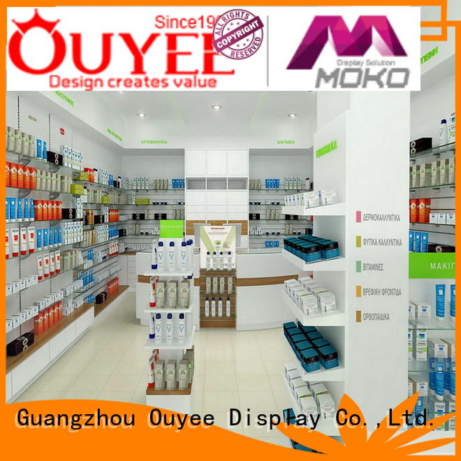 OUYEE Brand pharmacy units sale furniture pharmacy counter