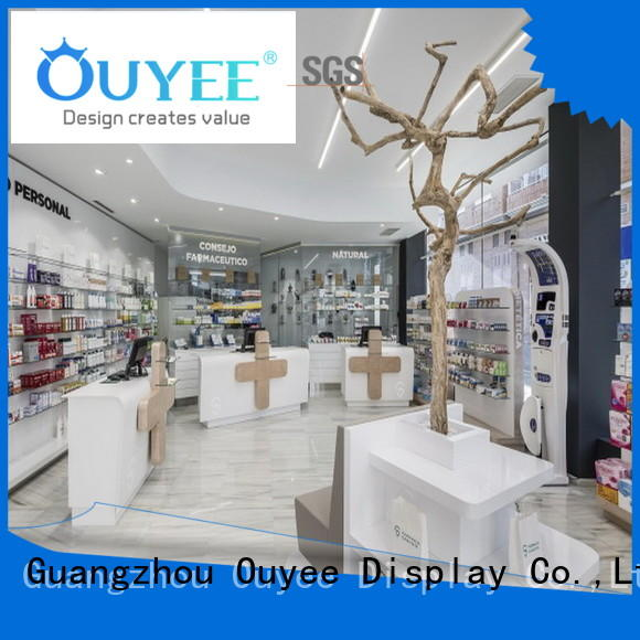 interior retail pharmacy counter store OUYEE Brand