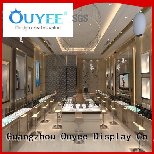 cases wall racks design jewellery shop design OUYEE