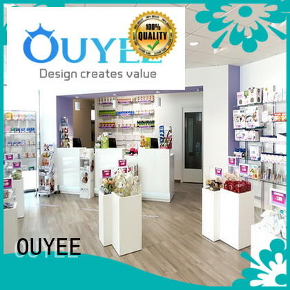 OUYEE high-quality medical shop counter design modern for display
