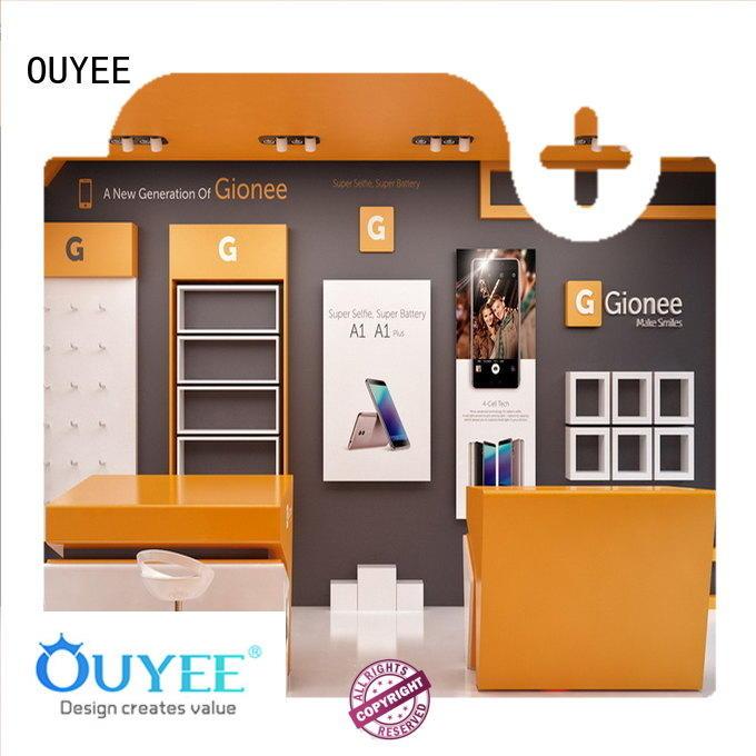 Hot phone repair kiosk plywood OUYEE Brand