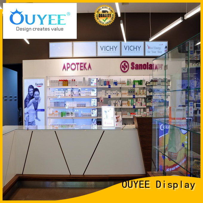 OUYEE top selling counter design for medical shop supplier for shop