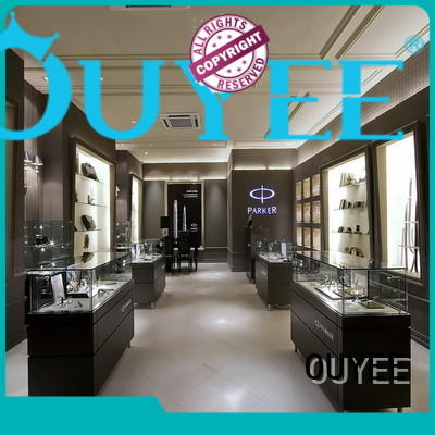 Hot tower jewellery shop design display counter OUYEE Brand