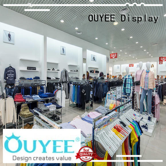 OUYEE high quality garments shop furniture universal for wholesale
