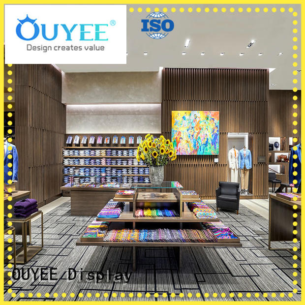 OUYEE high-end garment shop interior design ideas at discount for decoration