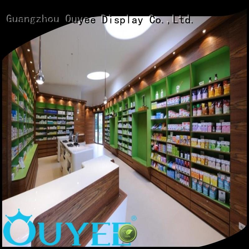 supplies display layout OUYEE Brand pharmacy counter supplier