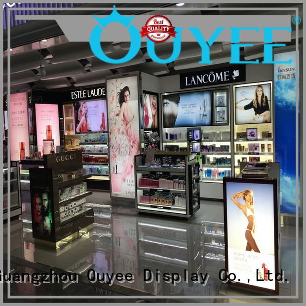 racks showroom cosmetic shop stand OUYEE Brand company
