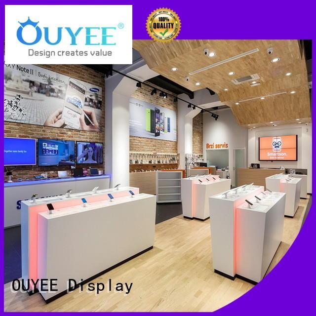 Hot plywood phone repair kiosk accessories OUYEE Brand