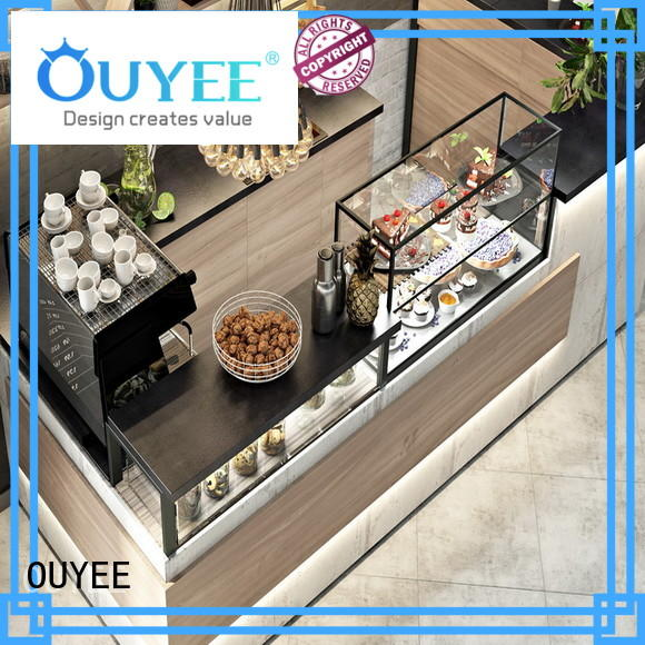 OUYEE popular coffee shop counter ideas modern for restaurant