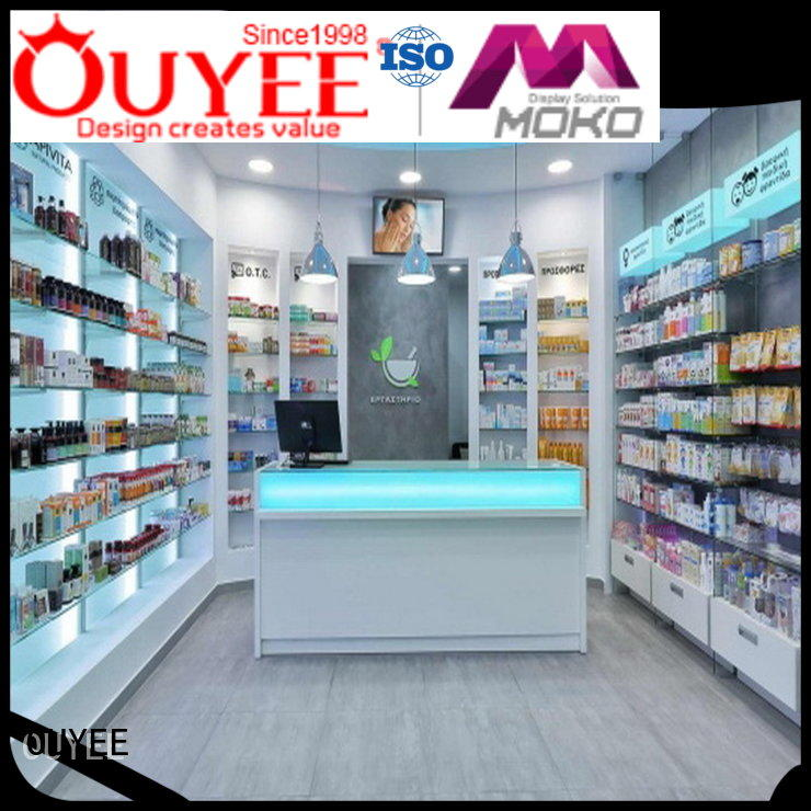 medical counter pharmacy counter shelving OUYEE Brand