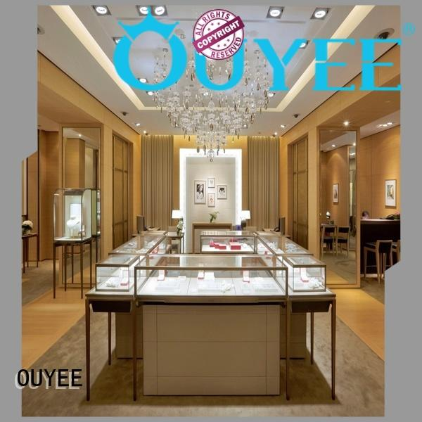 interior watch showcase OEM jewellery shop design OUYEE