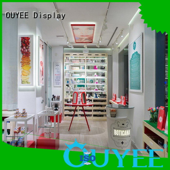 OUYEE Brand decoration medical pharmacy counter design pharmacy supplier