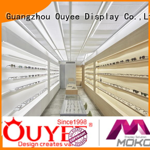 Hot eyeglass display stand layout OUYEE Brand