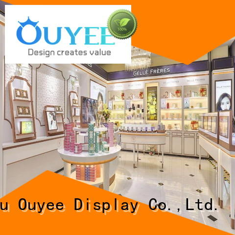 OUYEE hot-sale perfume display ideas top brand for supermarket