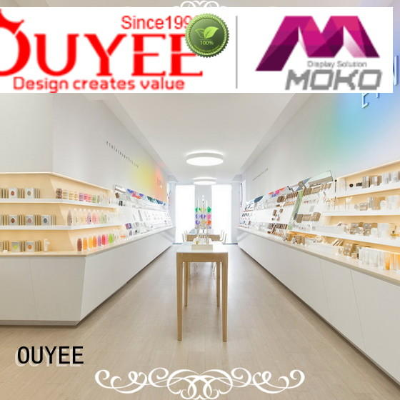 units stand display OUYEE Brand cosmetic shop