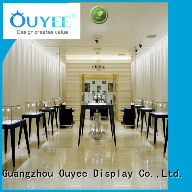 OUYEE custom commercial jewelry display cases OBM for shop