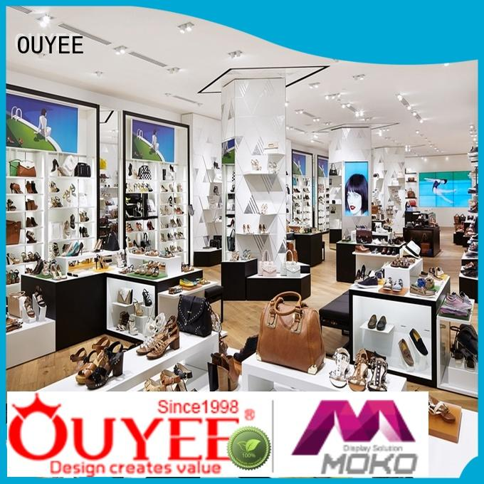 high-end sneaker display box eye-catching for chain shop OUYEE