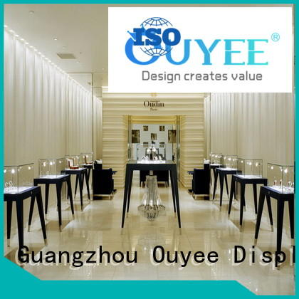OUYEE Brand cases watch latest retail jewellery shop design