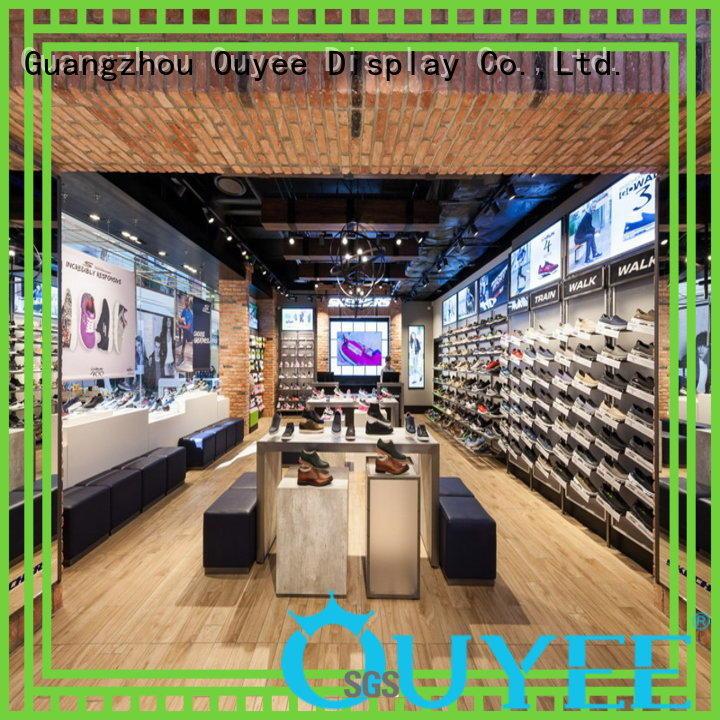 OUYEE funky shoe display wall eye-catching for chain shop