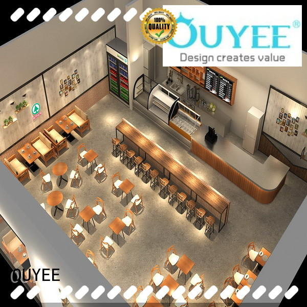 on-sale coffee shop interior design cheapest price for furniture OUYEE