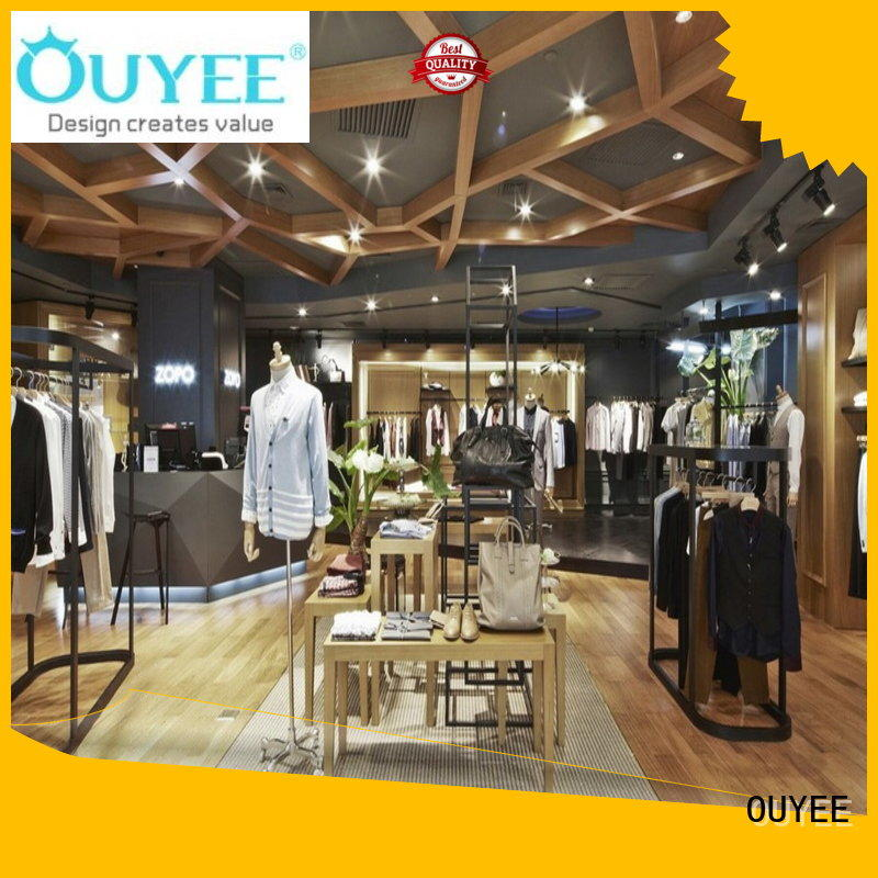 boutique clothing display racks name counter clothing shelves manufacture