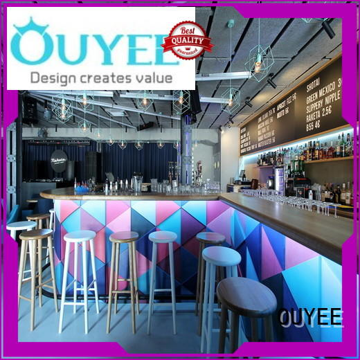 OUYEE eye-catching coffee shop decoration design on-sale for furniture