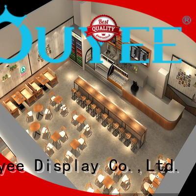 Hot decor kiosk coffee shop ideas OUYEE Brand