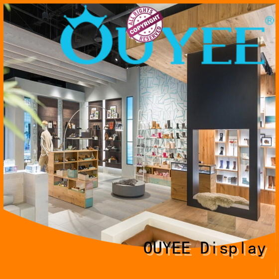 high-end shoe display fixtures universal for chain shop OUYEE