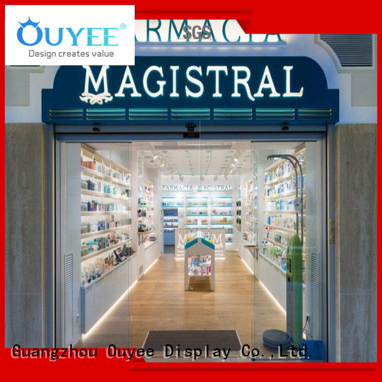 pharmacy counter design retail furniture pharmacy counter decoration OUYEE Brand