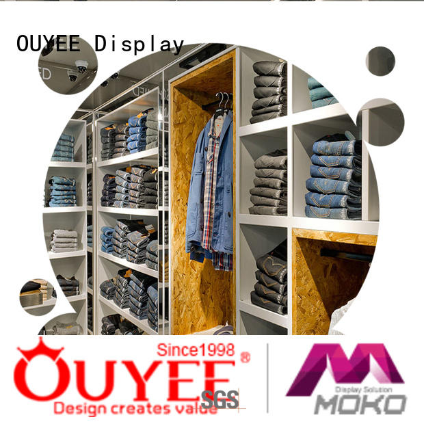 OUYEE free delivery clothing display cabinet top-selling for wholesale