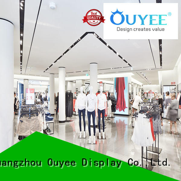 OUYEE popular garments shop furniture cheapest price for wholesale