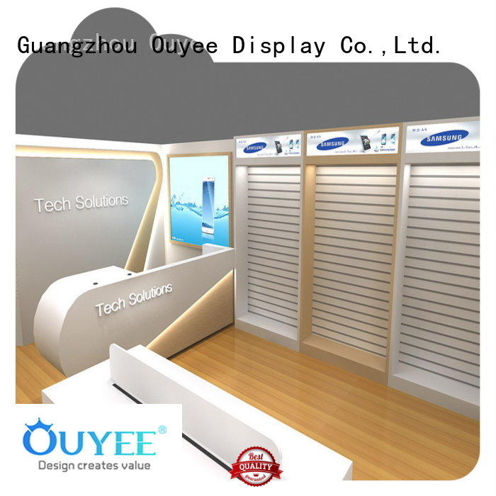mobile shop decoration plywood for electronics OUYEE