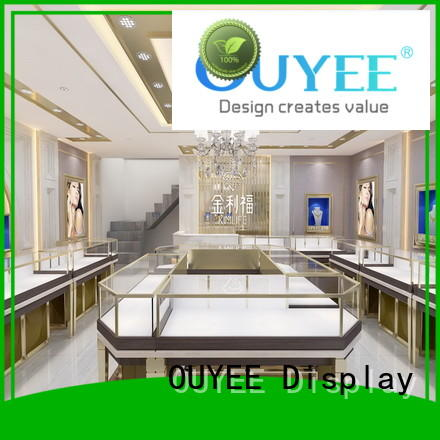 OUYEE top brand jewellery shop design low-cost for store