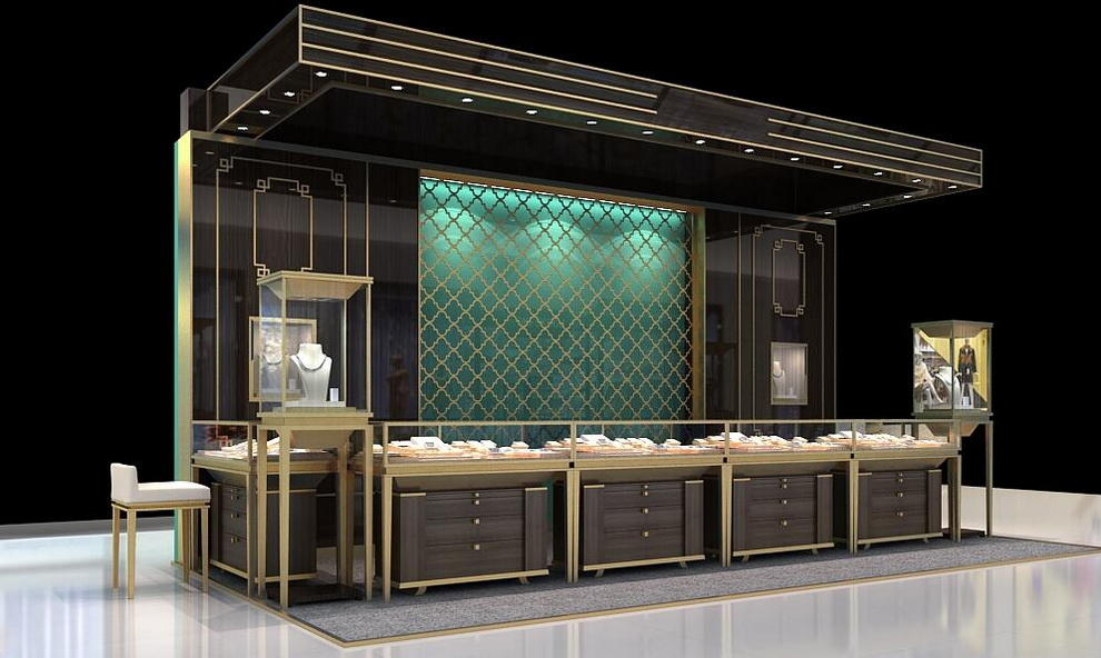 OUYEE chic style wood jewelry display commercial for store-2