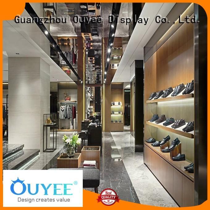 OUYEE Brand decoration fixtures racks boutique clothing display racks showroom