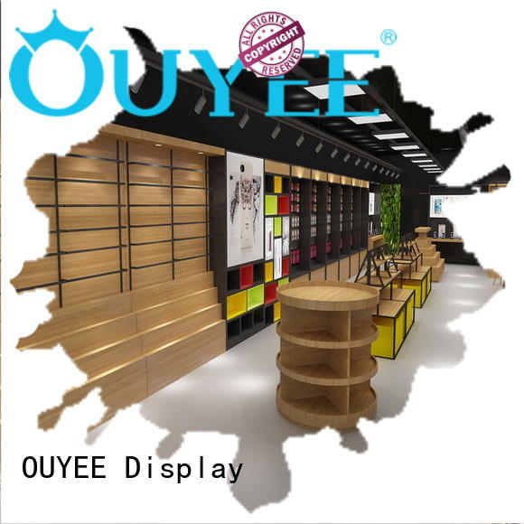 wooden designs electronic shop display OUYEE Brand